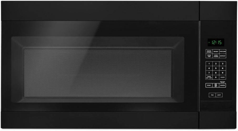 Amana Amv2307pfb 1 6 Cu Ft Over The Range Microwave In