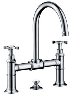 Hansgrohe 16510001 Double Cross Handle Lavatory Faucet With 6 7 8 Inch Reach 13 1 4 Inch Height