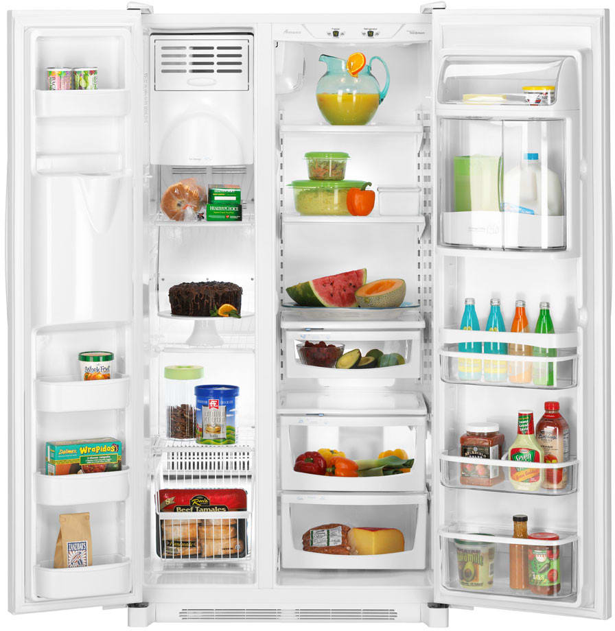 Amana Asd2626hew 25 6 Cu Ft Side By Side Refrigerator