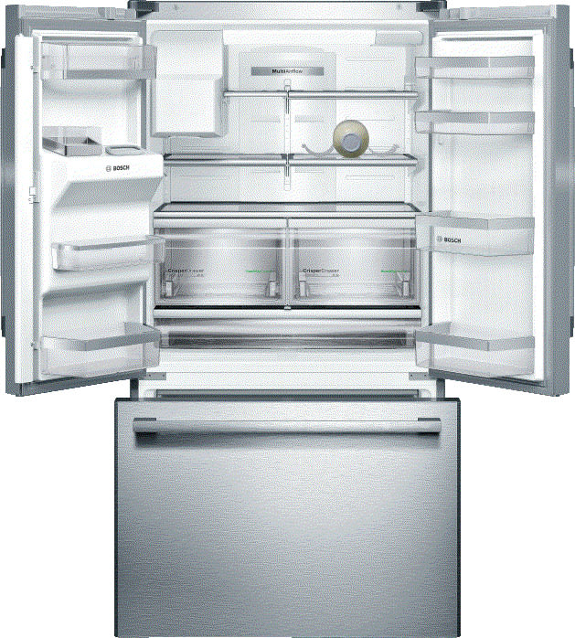 Bosch B26ft50sns 36 Inch French Door Refrigerator With