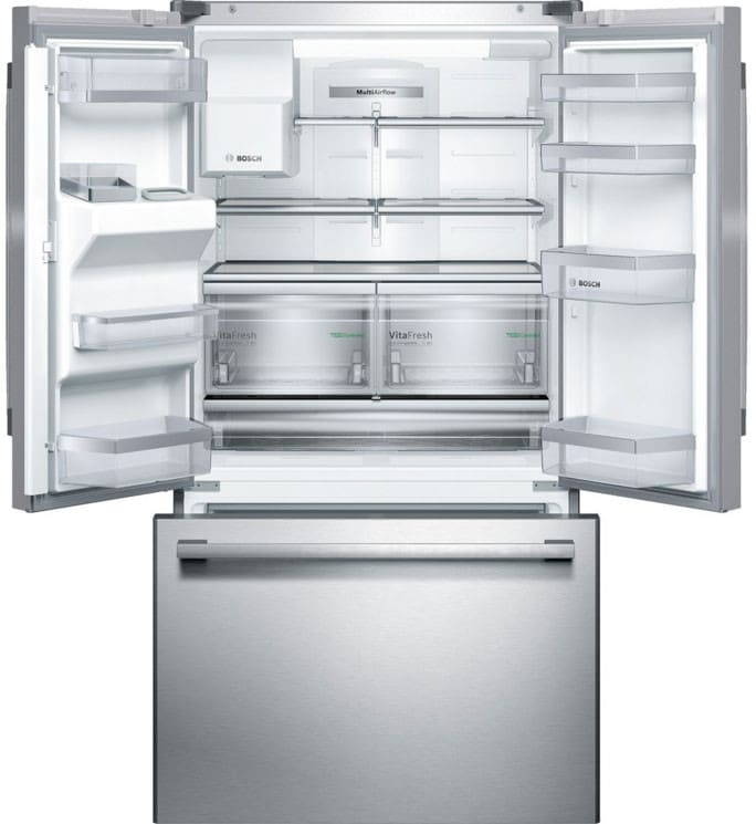 samsung french door fridge width open doors beside a wall lg refrigerator with internal water dispenser