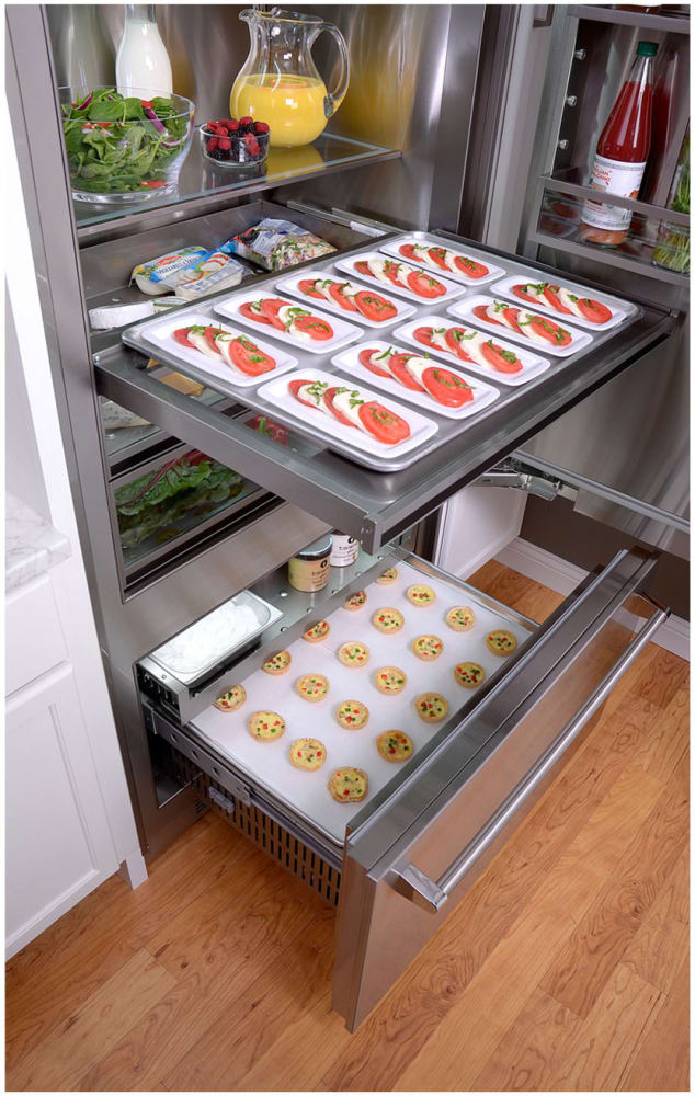 ideas contemporary or wall refrigerator decor other concept set drawer freezer attachment organization drawers