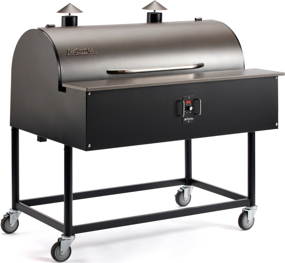 traeger bbq150 48 inch freestanding wood pellet grill with 836 sq in grilling area 72 000 btu. Black Bedroom Furniture Sets. Home Design Ideas