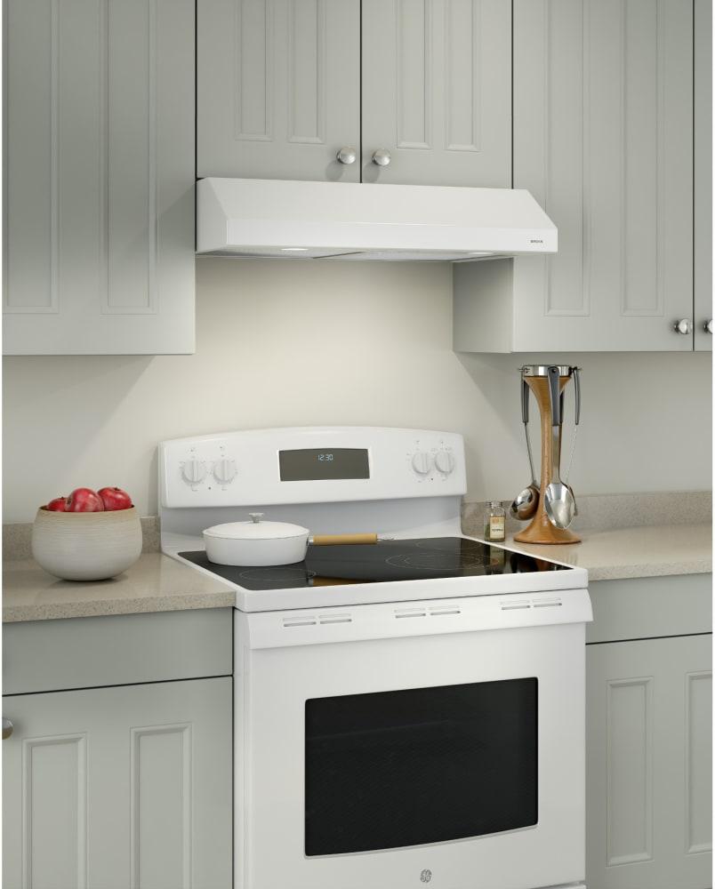 broan bcsd130ww 30 inch under cabinet range hood with captur system two level halogen lighting. Black Bedroom Furniture Sets. Home Design Ideas