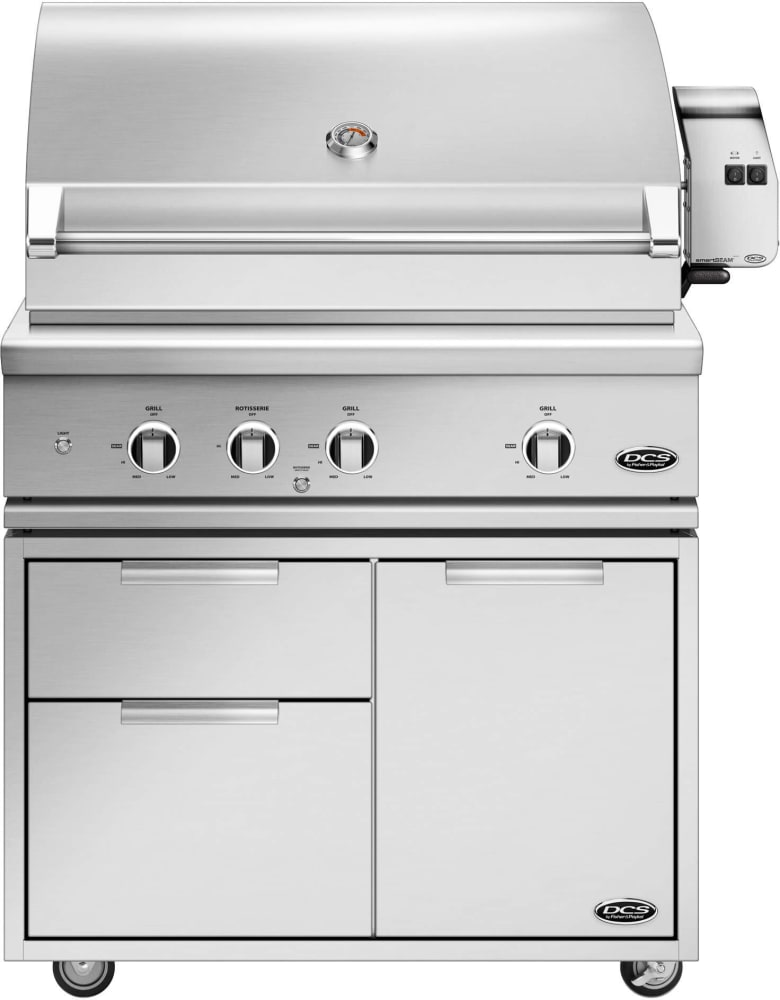 Built In Smoker Outdoor Kitchen: DCS BE136RCN 36 Inch Built-In Grill With Infrared