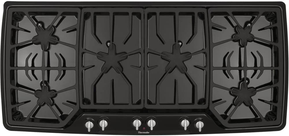 Viking Gas Cooktop >> Thermador SGSX456CB 45 Inch Gas Cooktop with 6 Star Burners (2 w/ ExtraLow Simmer Settings), 2 x ...