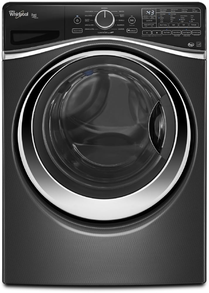 whirlpool wfw97hedbd 27 inch 4 5 cu ft front load washer with 12 wash cycles 1 400 rpm steam. Black Bedroom Furniture Sets. Home Design Ideas