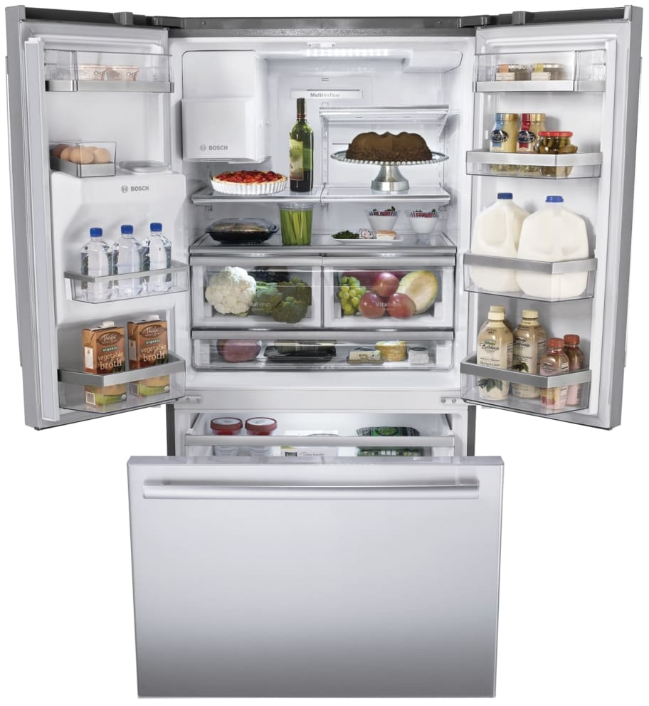 Bosch B26ft80sns 36 Inch French Door Refrigerator With