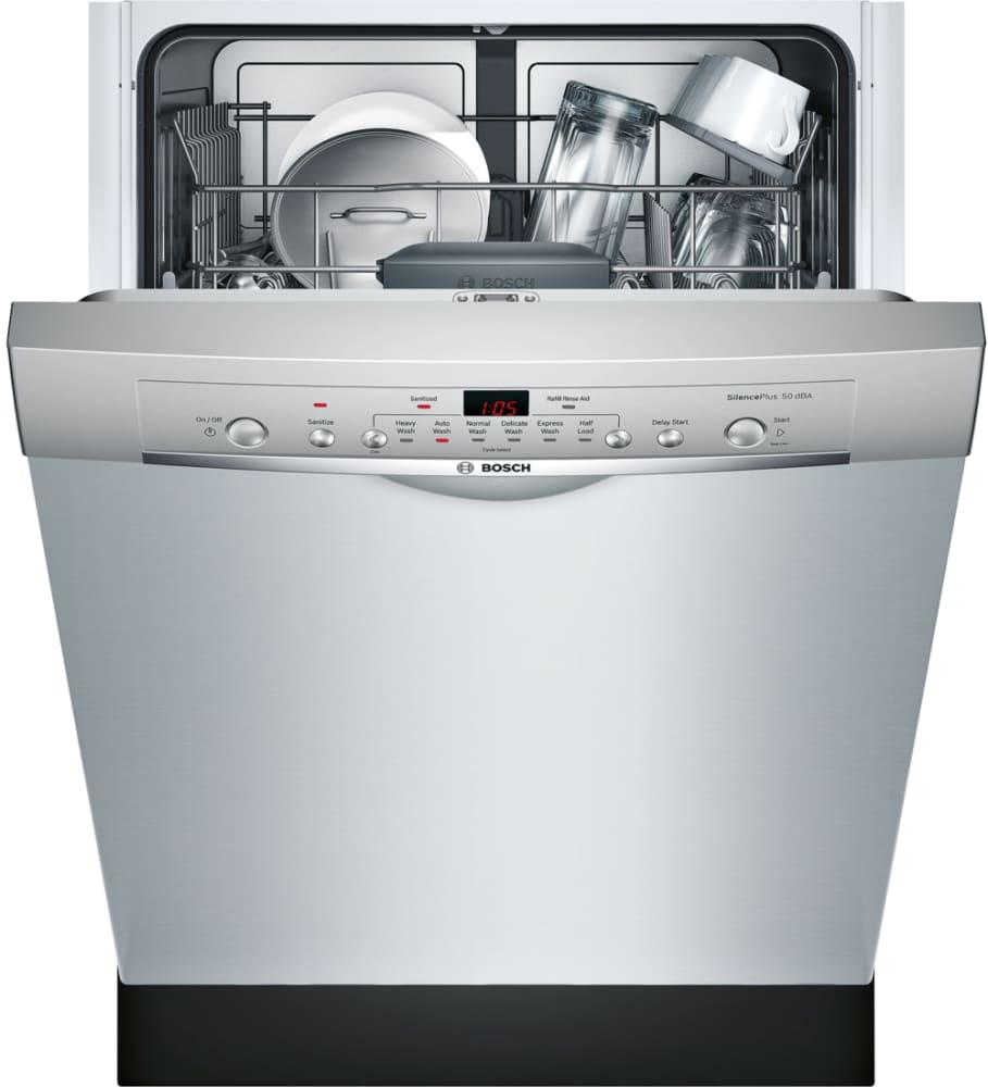 bosch she3ar75uc 24 inch full console dishwasher with 24 7. Black Bedroom Furniture Sets. Home Design Ideas