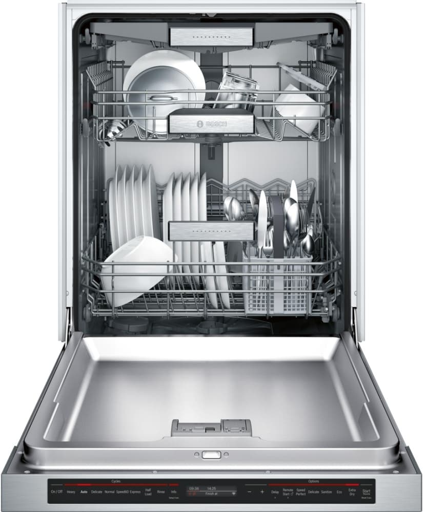 bosch shem78wh5n semi integrated dishwasher with home. Black Bedroom Furniture Sets. Home Design Ideas