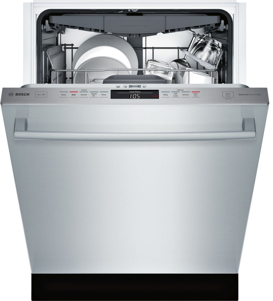 bosch shxm63ws5n fully integrated dishwasher with 3rd rack. Black Bedroom Furniture Sets. Home Design Ideas