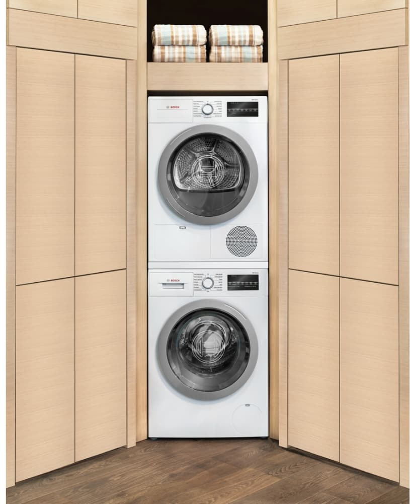 Miele stackable washer dryer ventless - Drum Bosch 500 Series Wtg86401uc Shown With Matching Washer