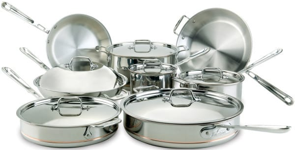 All Clad 60090 14 Piece Copper Core Cookware Set With 5