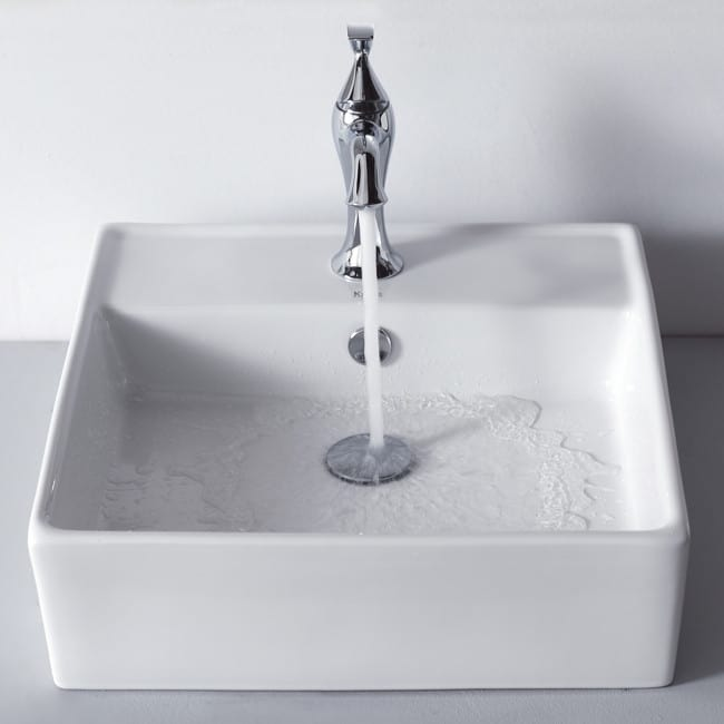 Kraus CKCV15015001CH 18 3/5 Inch Square Ceramic Sink with Ventus ...