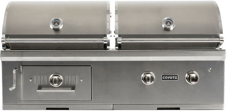 Coyote C1hy50ng 50 Built In Hybrid Charcoal Gas Grill