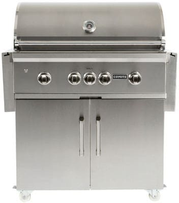 Coyote c1sl36lp 36 inch built in gas grill with 875 sq in for Coyote outdoor grills reviews
