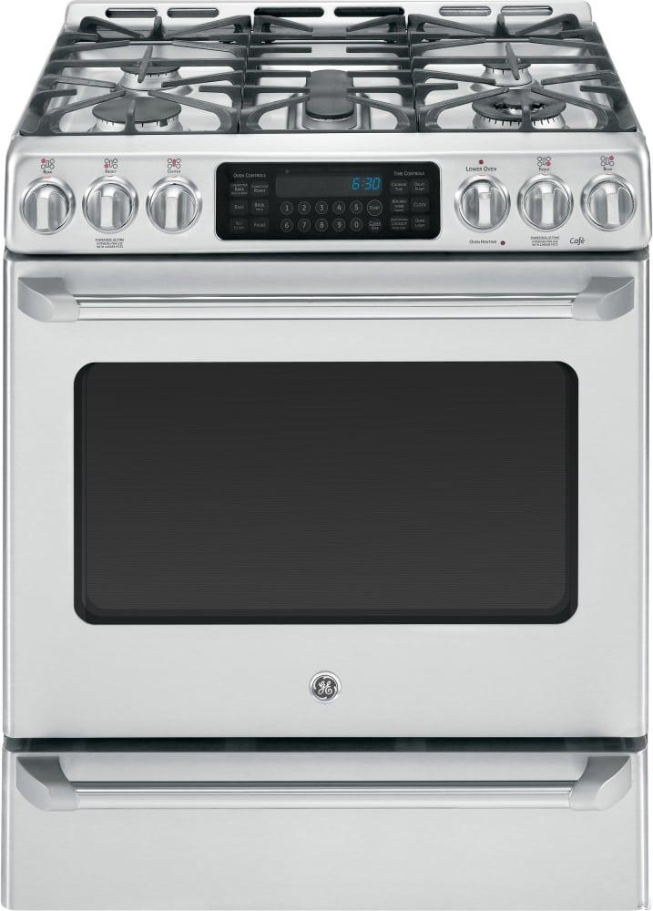 Dual Fuel Oven ~ Ge c s setss inch slide in café™ series dual fuel
