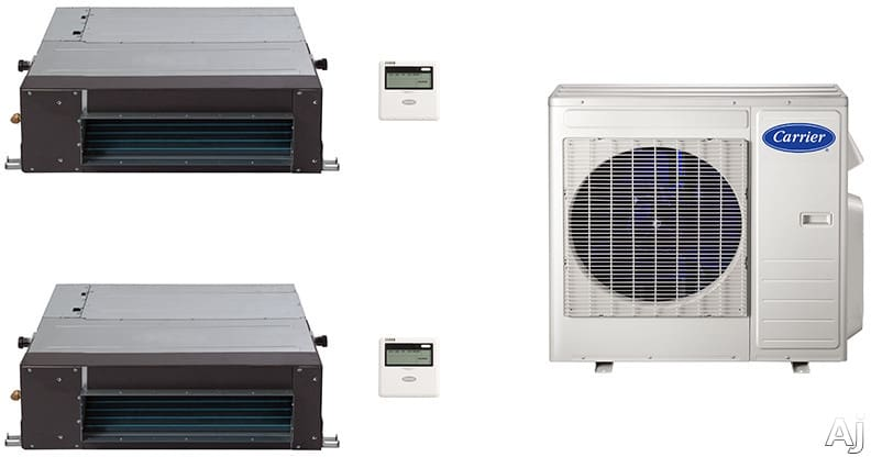 Carrier Ca18k12 2 Room Mini Split Air Conditioning System