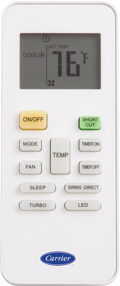 carrier air conditioning manual remote control