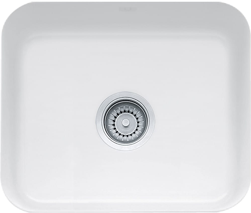 Franke Cck11019wh 21 Inch Undermount Single Bowl Fireclay Sink White