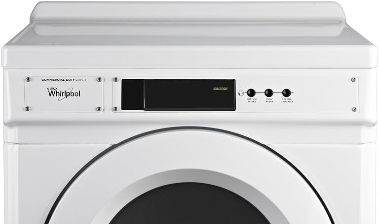 Whirlpool ced9060aw 27 inch commercial electric dryer with for Westinghouse ac motor 1 3 hp