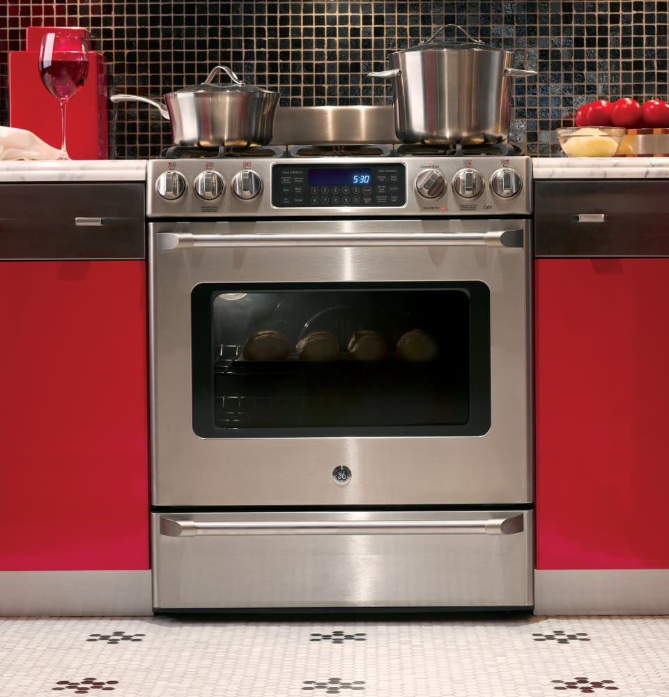 Ge Cgs985setss 30 Inch Slide In Caf 233 Series Gas Range