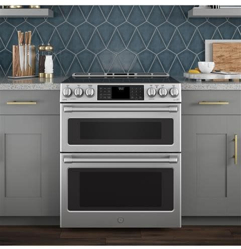 Genial GE CHS995SELSS 30 Inch Slide In Induction Range With True European  Convection, Wifi Connect, Chef Connect, Warming Drawer, Double Oven, 7.0  Cu. Ft.