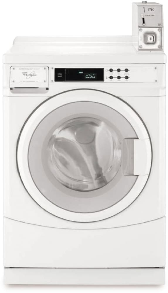 Whirlpool CHW8990CW 27 Inch Front Load Commercial Washer