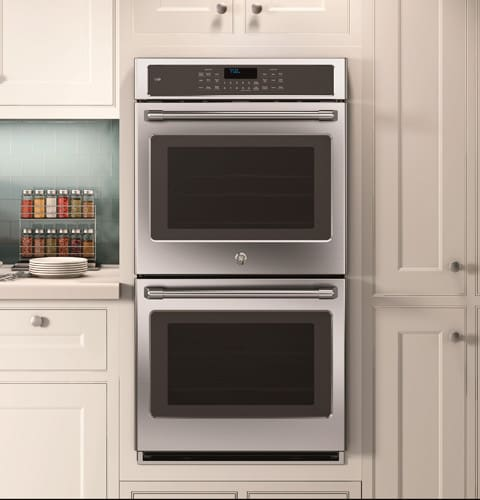 ge cafe wall oven compact wall ge cafe series ck7500shss 27 27 inch double electric wall oven with 43 cu ft