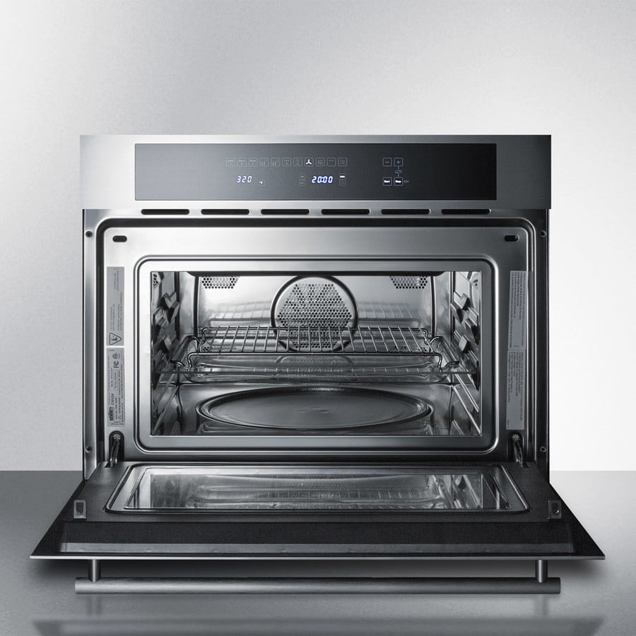 Summit Cmv24 24 Inch Built In Speed Oven With 1 34 Cu Ft