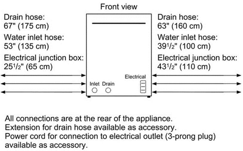 bosch 300 series shx53t55uc - connection diagram