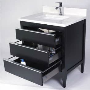 Empire Industries CP24B 24 Inch Contemporary Vanity with 3 ...
