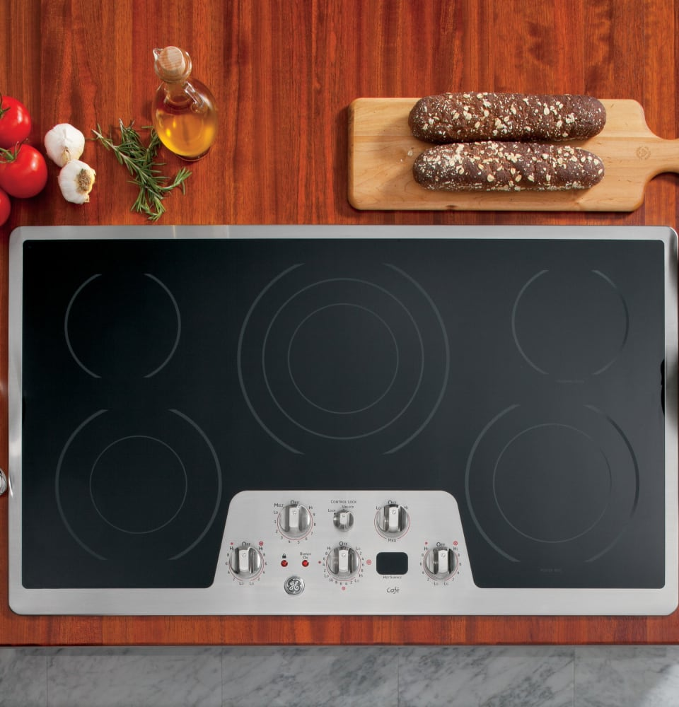 Heating Induction Cook Tops ~ Cafe cp stss inch smoothtop electric cooktop with
