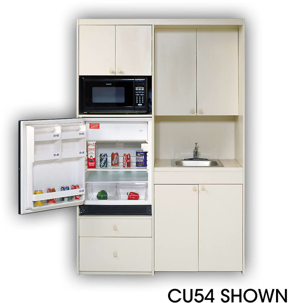 Compact Kitchens All In One: Acme CU54 Compact Kitchen With Stainless Steel Sink, 1 Cu