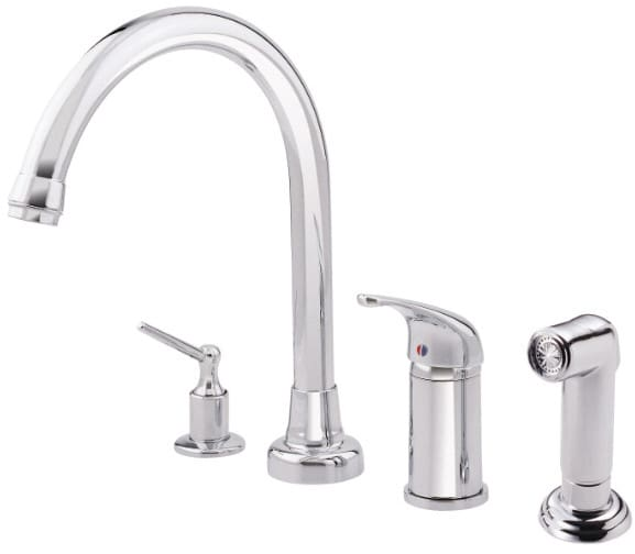 Danze 174 D409012 Single Lever Cast Spout Kitchen Faucet With