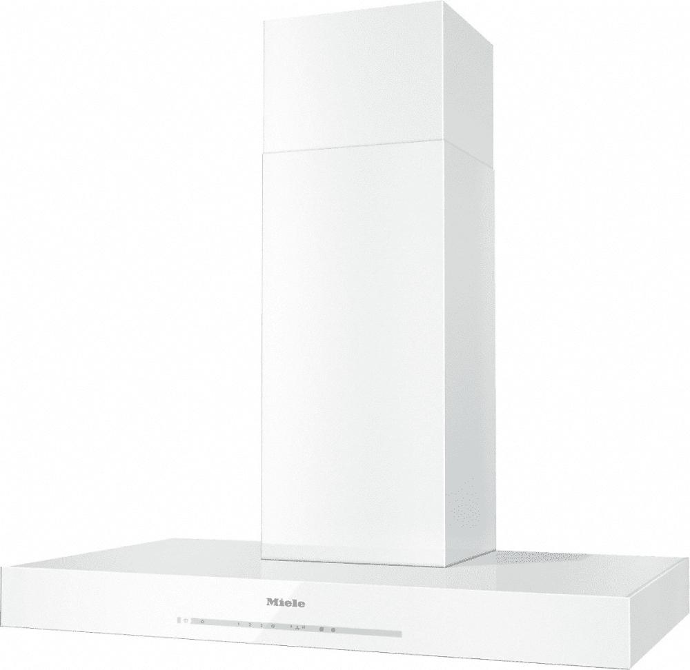 miele da6690w 36 inch puristic wall mount chimney hood with 625 cfm internal blower 4 fan. Black Bedroom Furniture Sets. Home Design Ideas