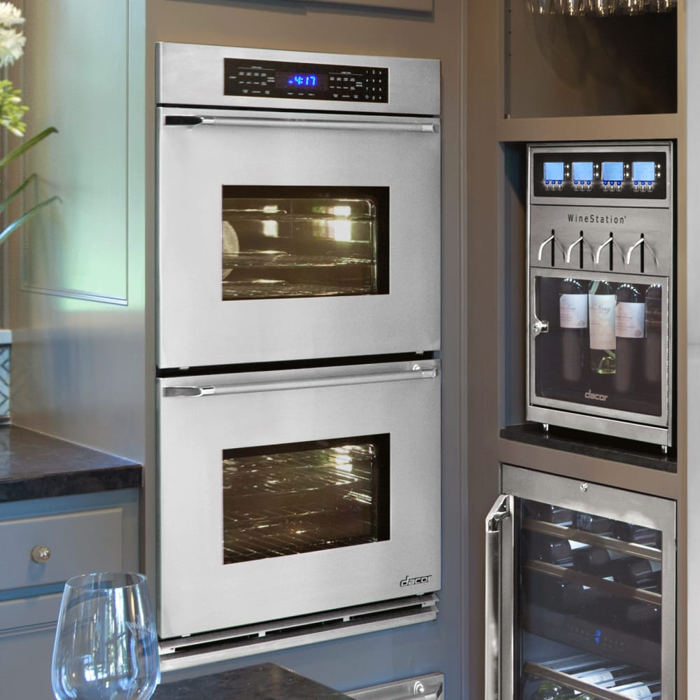 dacor renaissance rno230s - stainless steel double wall oven with  epicure handle