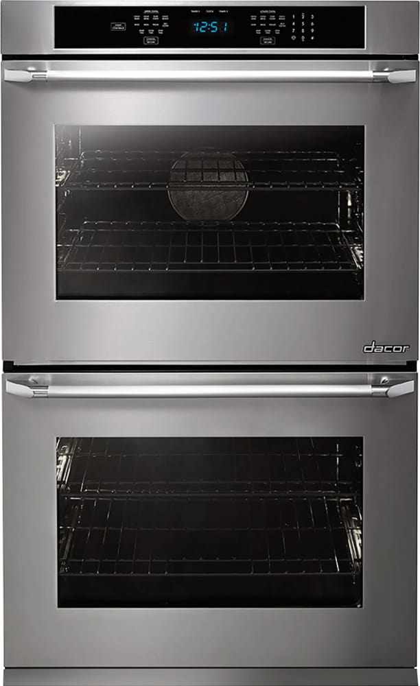 Dacor Distinctive Dto230s Double Wall Oven Stainless Steel Epicure Handle Model Shown