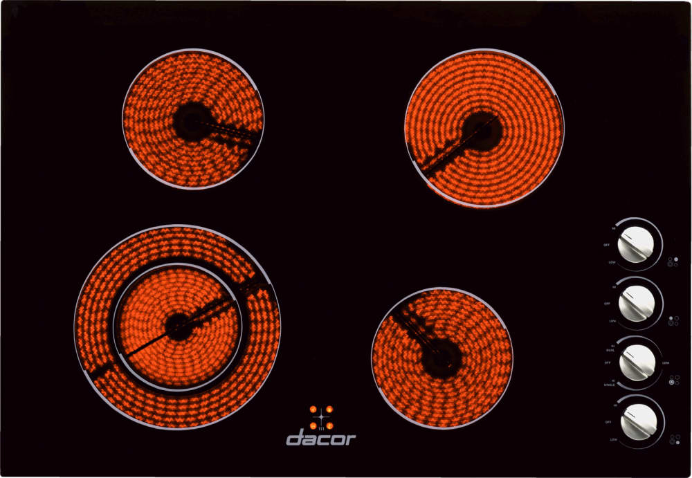 Dacor Dect304b 30 Inch Smoothtop Electric Cooktop With 4
