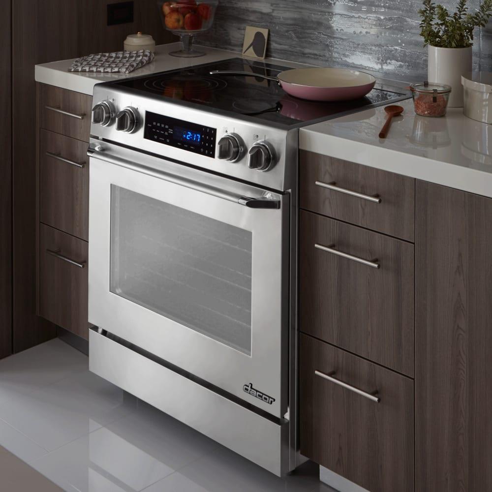 Uncategorized Dacor Kitchen Appliances dacor dr30es 30 inch freestanding electric range with 4 8 cu ft distinctive lifestyle view