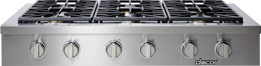 Dacor dyrtp486s 48 inch gas rangetop with 6 sealed burners for Dacor 48 rangetop
