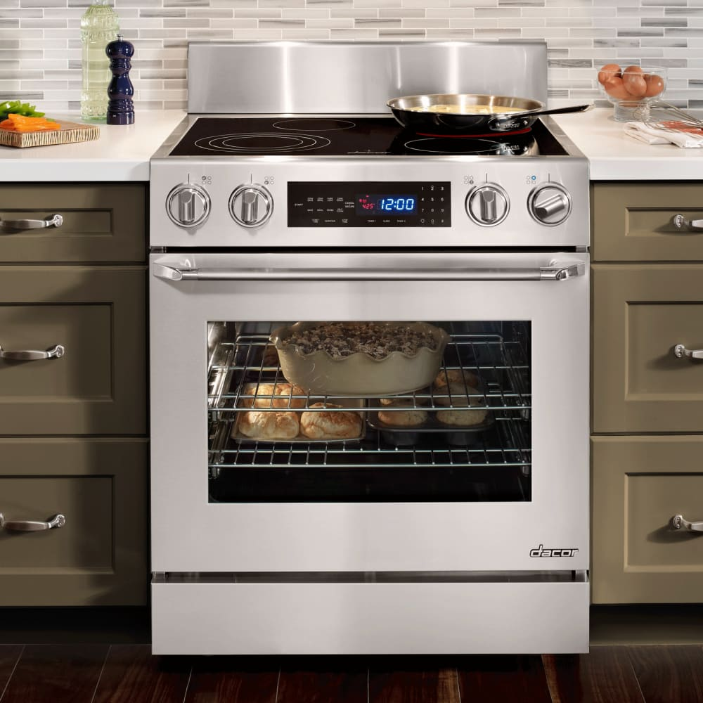 Slide In Ranges ~ Dacor dr eis inch slide in electric range with cu