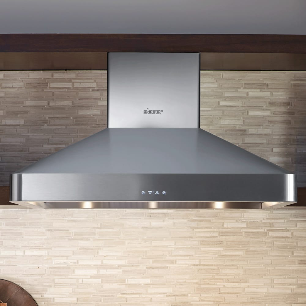 Dacor DHW482 48 Inch Wall Mount Chimney Range Hood with Two 600 CFM Internal