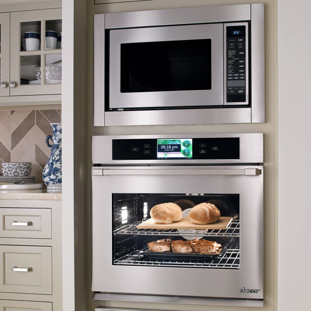 Dacor dyo130s 30 inch single electric wall oven with 4 8 for Decor microwave