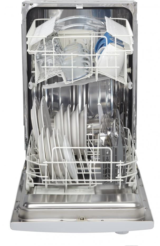 Danby Ddw1801mw 18 Inch Full Console Dishwasher With 6