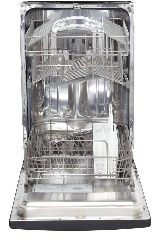 Danby Ddw1802ebls 18 Inch Full Console Dishwasher With 7