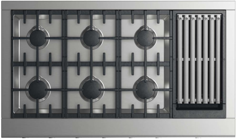 Dcs Cpv2486gln 48 Inch Gas Cooktop With 6 Burners And Grill