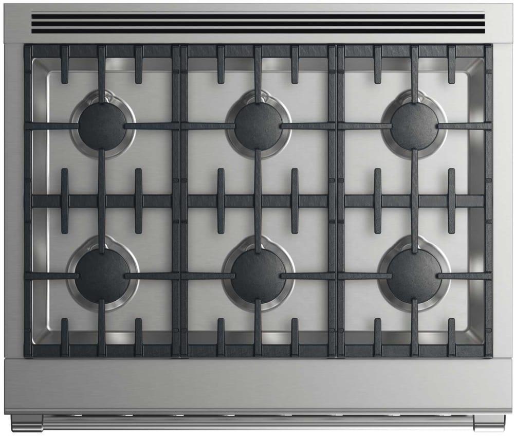 dcs rgv2366n 36 inch gas range with 6 burners - 6 Burner Gas Range