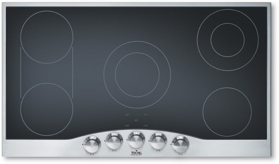 Viking Decu1665bsb 36 Inch Smoothtop Electric Cooktop With