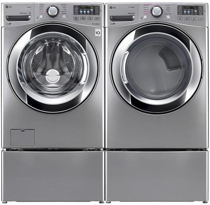 Lg Lgwadrgv102 Side By Side On Pedestals Washer Amp Dryer